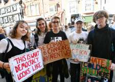 Hundreds join Lincoln climate strike in global action day