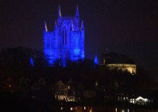 Lincoln Cathedral lighting schedule for Clap for Carers and Easter