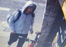 Police appeal to find hooded bike thief