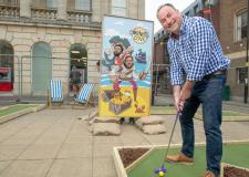 Lincoln Cornhill Cove pop-up crazy golf and bar now open