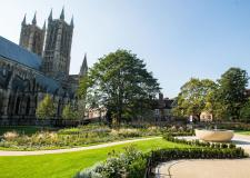Look inside the revamped Dean's Green at Lincoln Cathedral