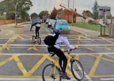 Lincoln youths dice with death on level crossing