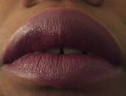 Swatch on lips