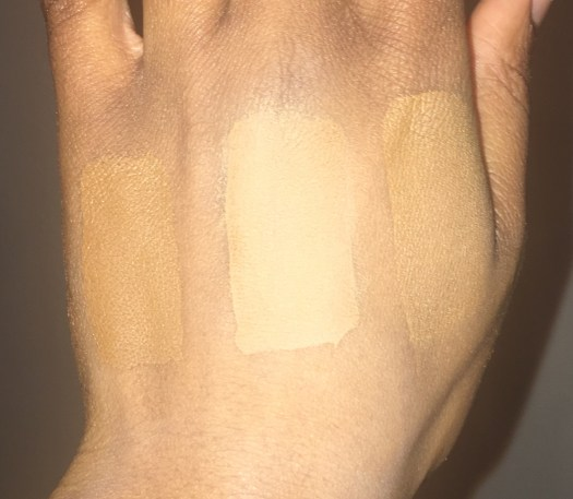 swatches of powders