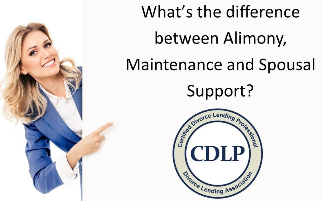 What's the difference between Alimony, Maintenance and Spousal Support?