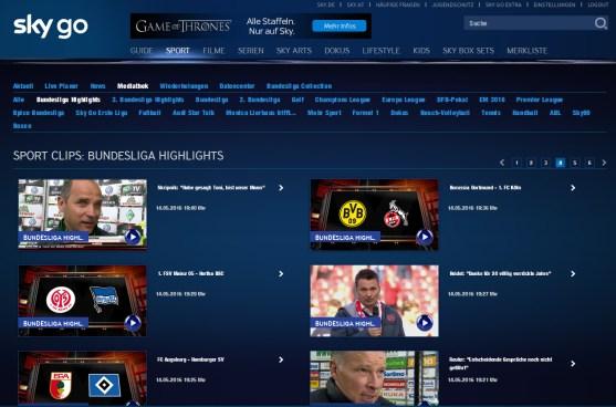 SkyGo Bundesliga Screenshot