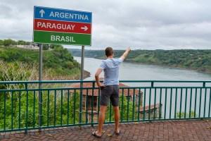 Scott at Marco das Tres Fronteiras in Brazil