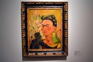 A painting by Frida Kahlo in Museo de Arte Latinoamericano de Buenos Aires (Malba) in Argentina.