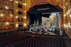 The interior of Teatro Colon in Buenos Aires, Argentina.