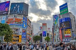Shibuya Crossing, Tokyo, Japan.