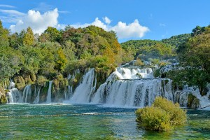 Krka Waterfalls at Krka National Park, Croatia.