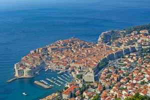 Dubrovnik from Fort Imperial, Croatia.