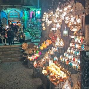 Lamps at the Khan el-Khalili Market, Cairo, Egypt.