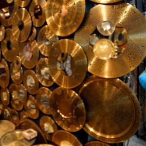 Some metal work at the Khan el-Khalili Market, Cairo, Egypt.