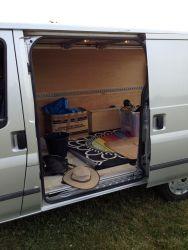 Old van slide door