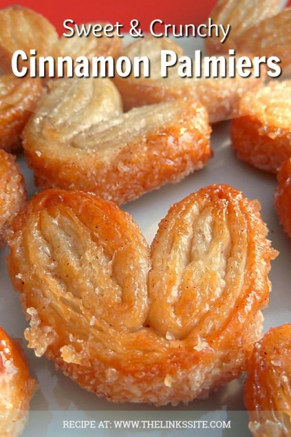 These cinnamon palmiers don't last long at my house, they are so hard to resist! thelinkssite.com