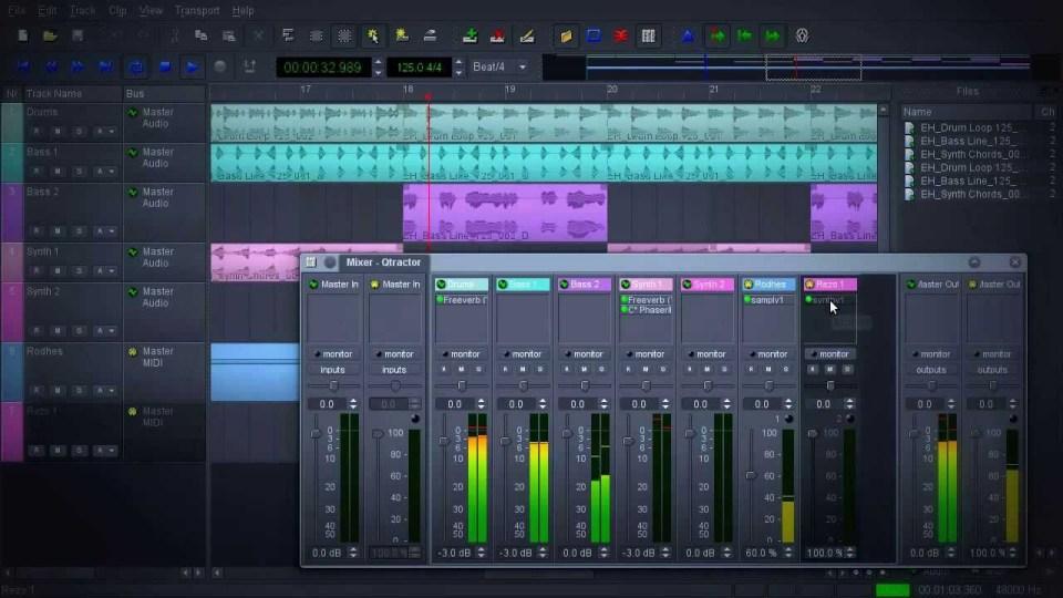 qtractor open source audio editor