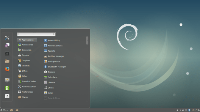 debian free operating system