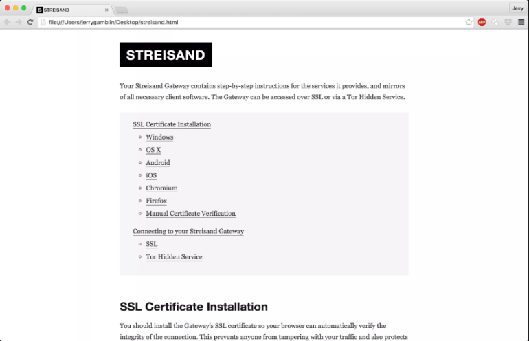 streisand open source vpn