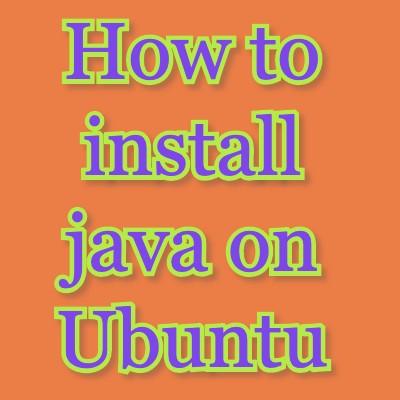 install java on ubuntu