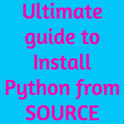 install python from source