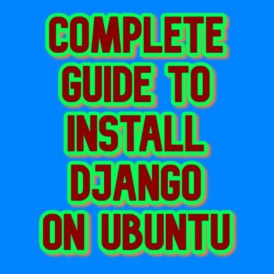 install django on ubuntu