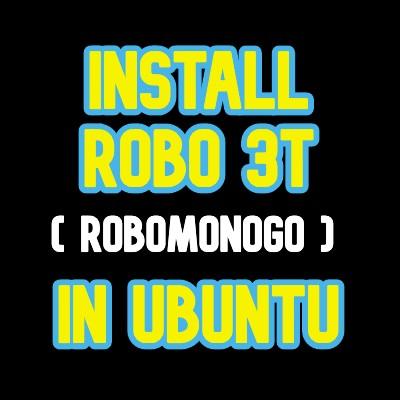 install robo3t on Ubuntu