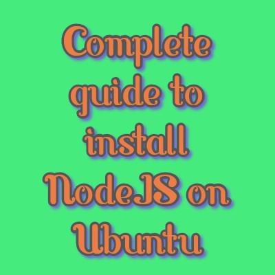 install nodejs on ubuntu