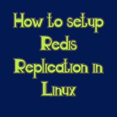setup redis replication