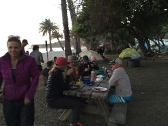 Los Angeles Backpackers Club at Refugio State Beach
