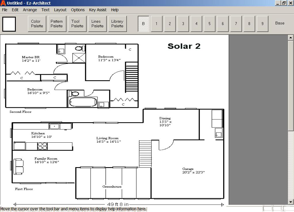 Ez-Architect Solar Floor Plan