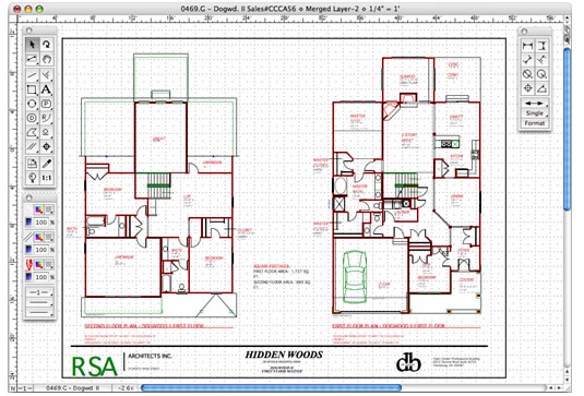MacDraft Professional Floor Plan