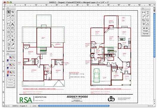 MacDraft Professional Floor Plan