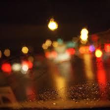 rainy night traffic