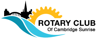 Rotary Club of Cambridge Sunrise logo