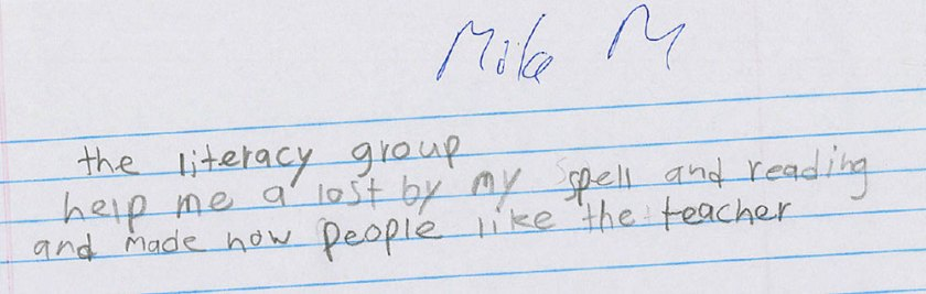 Mila own words for The Literacy Group