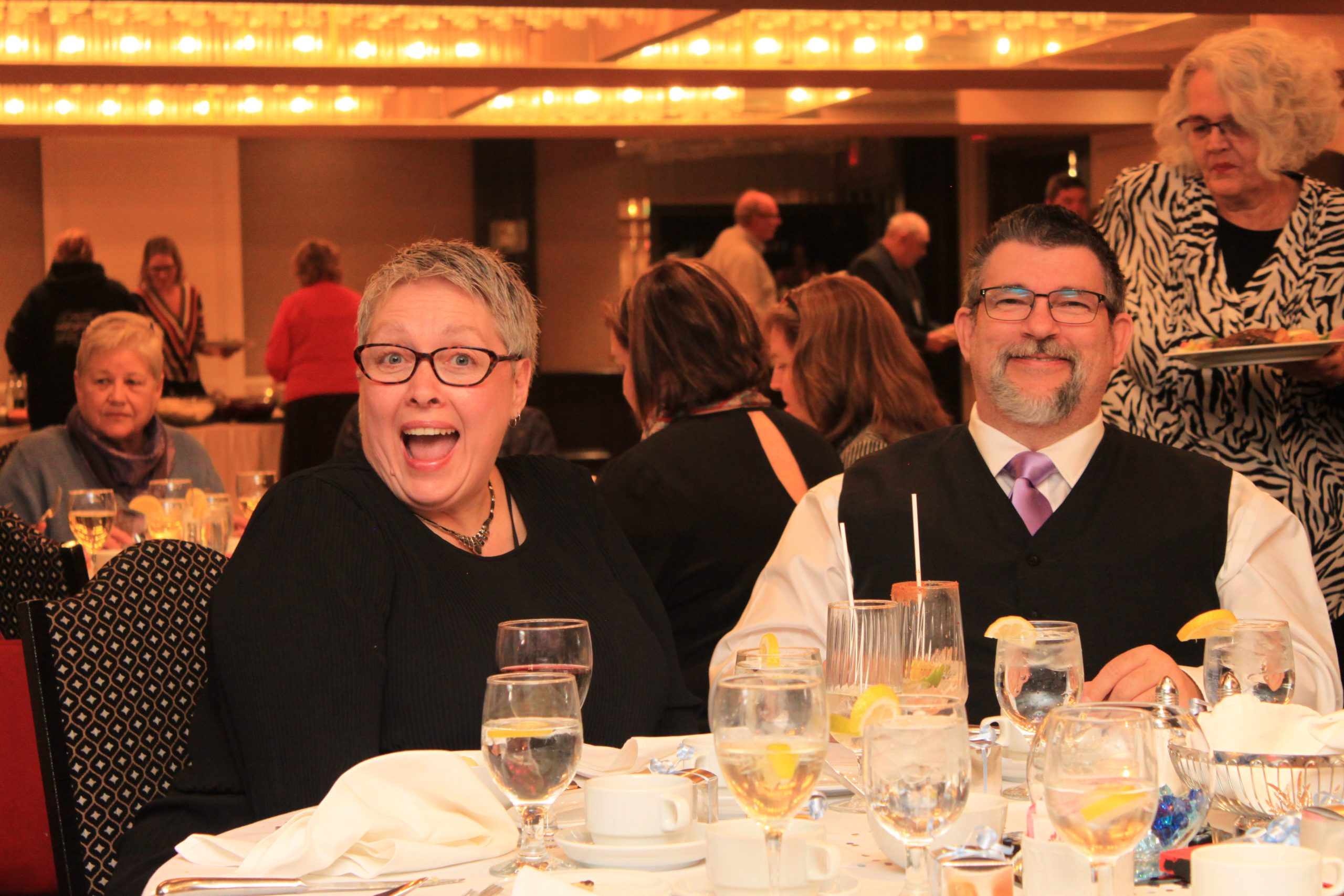 Lisa and John. Guests at Gala