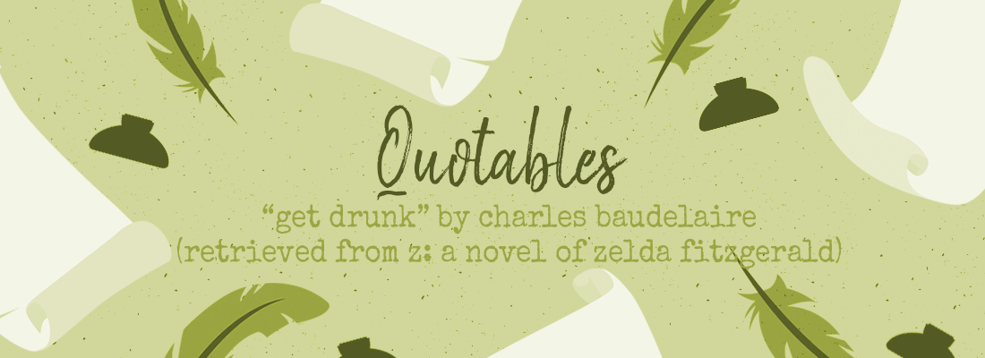 """Get Drunk"" – #ThursdayQuotables"