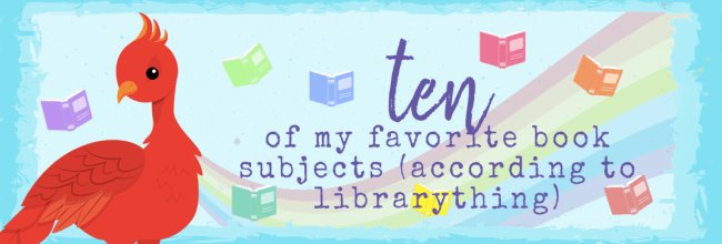 My Ten Favorite Book Subjects (The Data Speaks!)