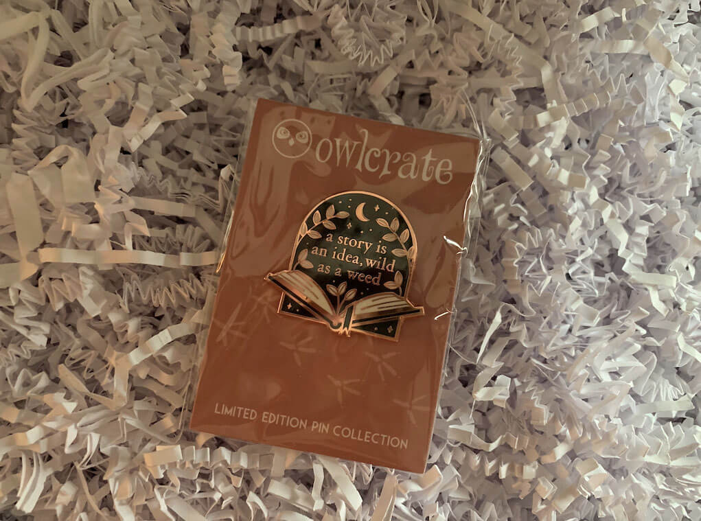 OwlCrate Addie LaRue Pin Designed by Forensics and Flowers