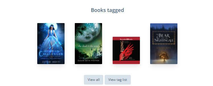 StoryGraph Tag Books Tagged