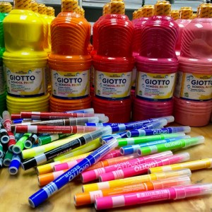 Giotto Paints & Fabric Markers