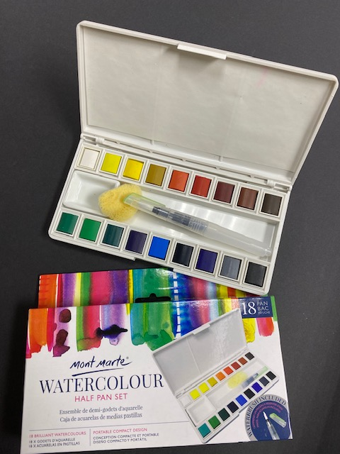 MONT MARTE – WATERCOLOUR HALF PAN SET