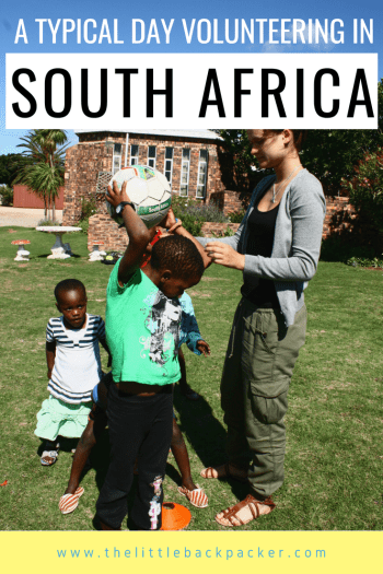 A typical day volunteering in South Africa in an orphanage