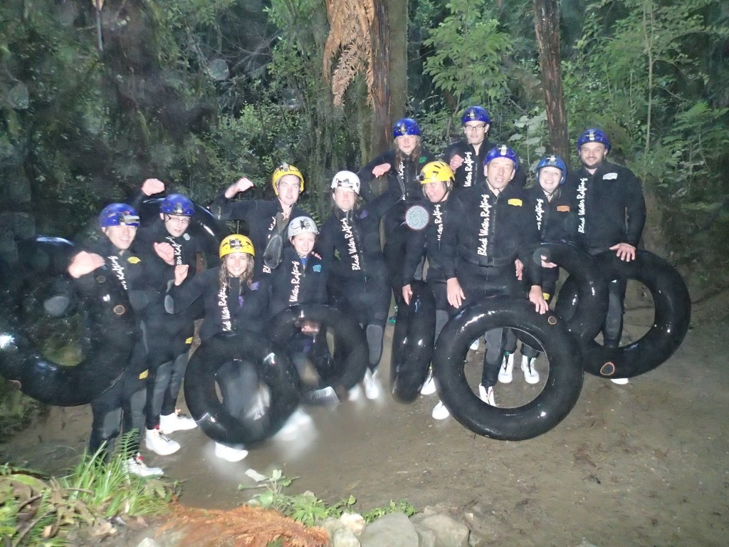 Black water rafting in New Zealand