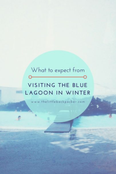 visiting the Blue Lagoon in winter Iceland