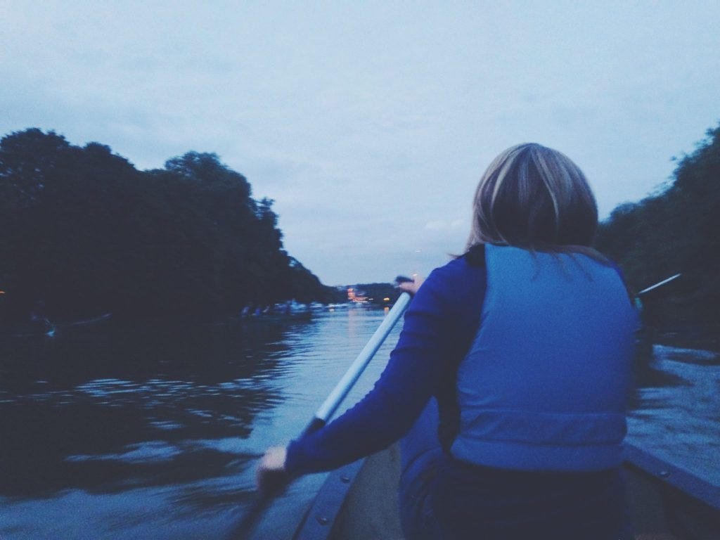canoeing in london with secret adventures