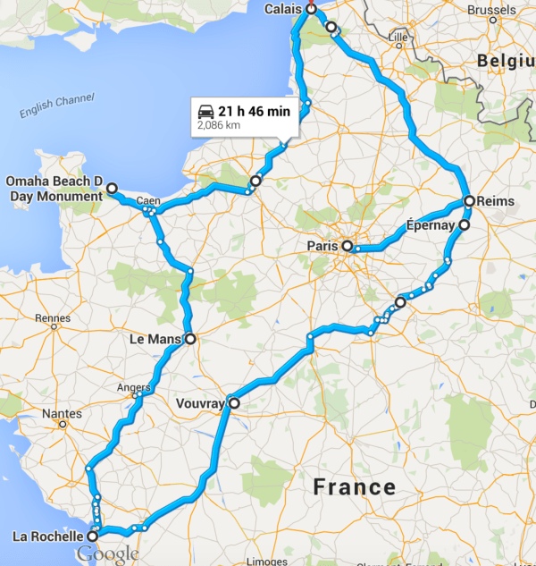 france road trip route cost accommodation the little backpacker. Black Bedroom Furniture Sets. Home Design Ideas
