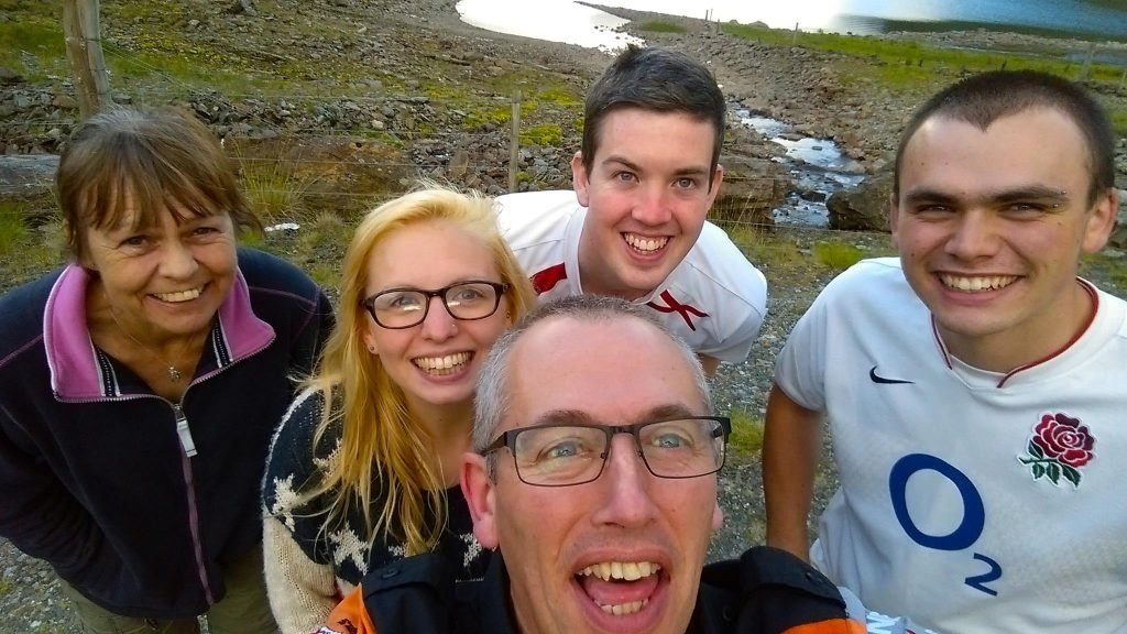 family photo in Scotland