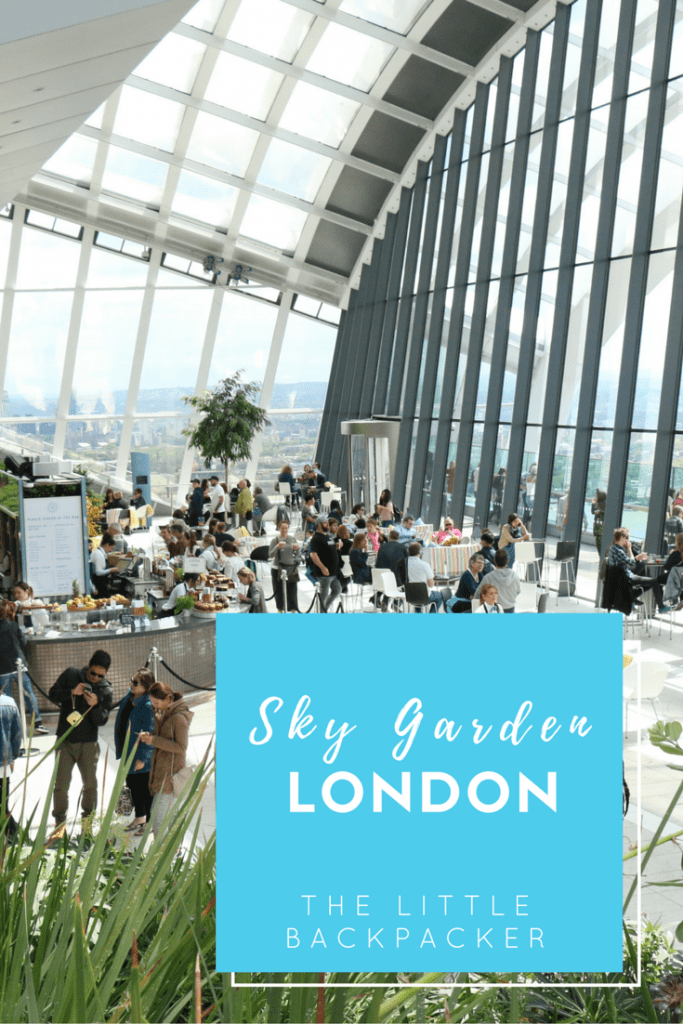 The Little Backpacker at the Sky Garden London